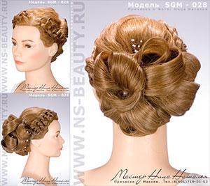 свадебные прически на средние волосы шаг за шагом